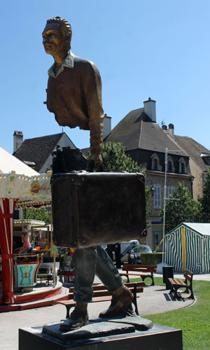 A rather exquisitely surreal statue in Beaune