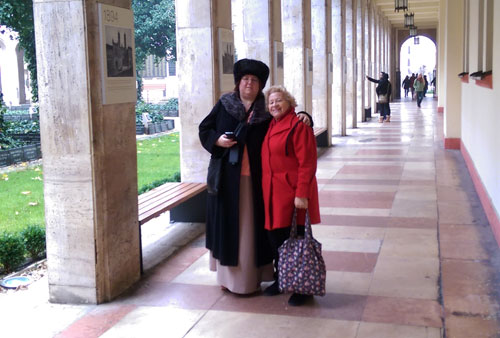 Mum and a Russian woman we met at the Synagogue