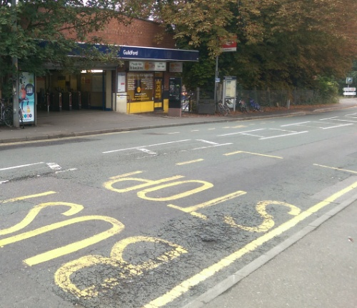 Guildford Station - cross to bus stop