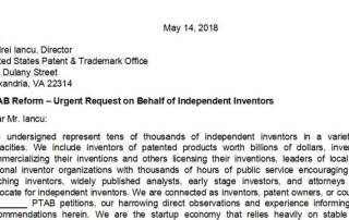 PTAB reform letter