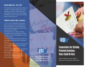 Inventor Rights Activism Trifold - US Inventor