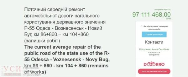 На текущий ремонт дороги Одесса — Вознесенск — Новый Буг ...