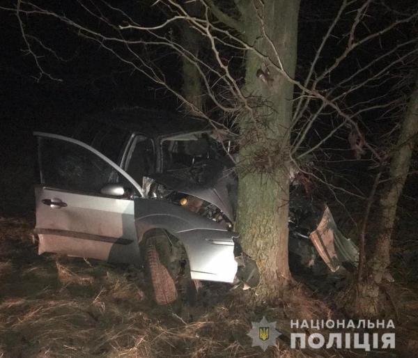 В Саратском районе легковушка врезалась в дерево: один ...