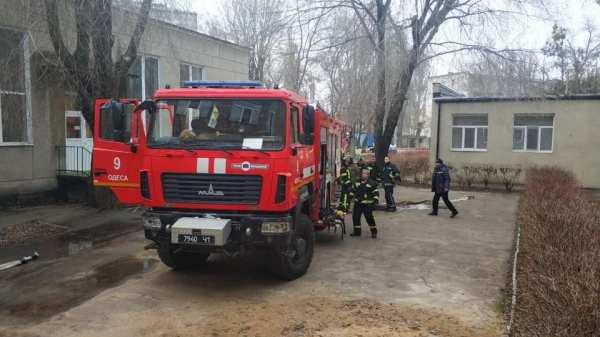 В Одессе загорелся интернат для незрячих детей (фото ...