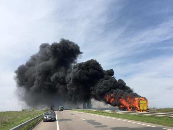 На трассе Одесса-Киев загорелся пассажирский автобус — УСИ ...