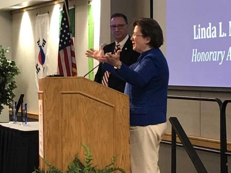 Former USI president honored at annual Founder's Day