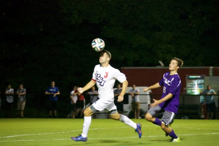 Men's soccer wins first game of season