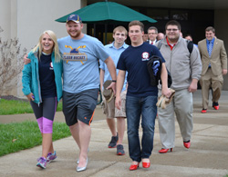 Students take steps in her shoes
