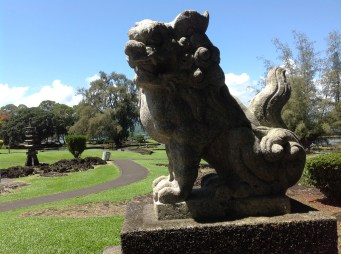 one of two lion dogs from Nagasaki