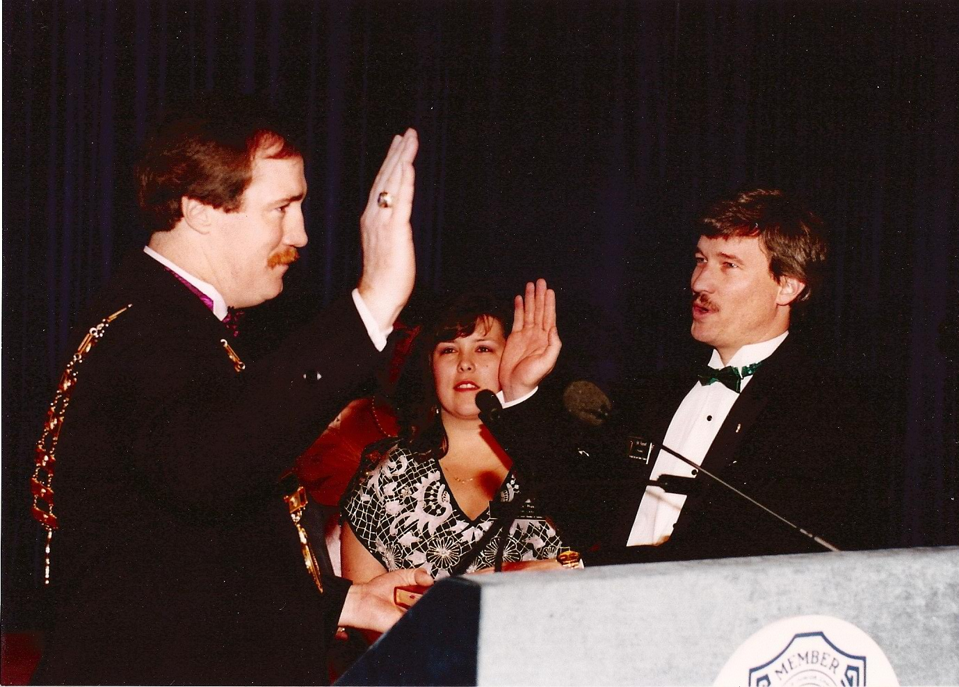 Sworn in by 72nd USJCC President Greg Thomes