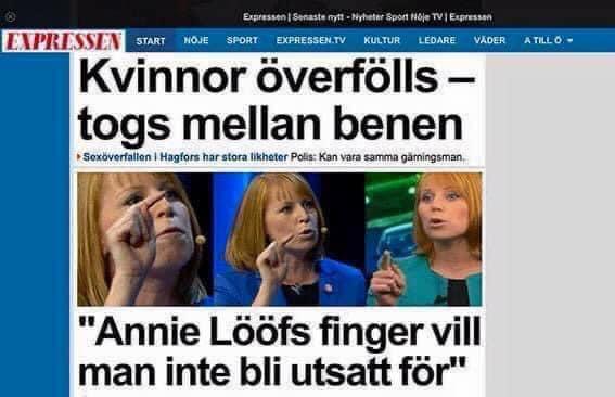 Expressen Kvinnor överfölls - Annie Lööf