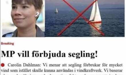 MP vill förbjuda segling!