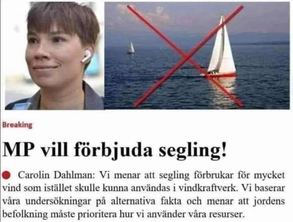 MP vill förbjuda segling - kristianstadsbladet