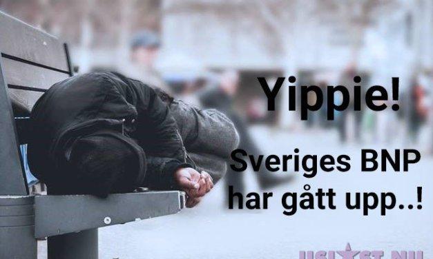 Yippie! – Sveriges BNP har gått upp..!