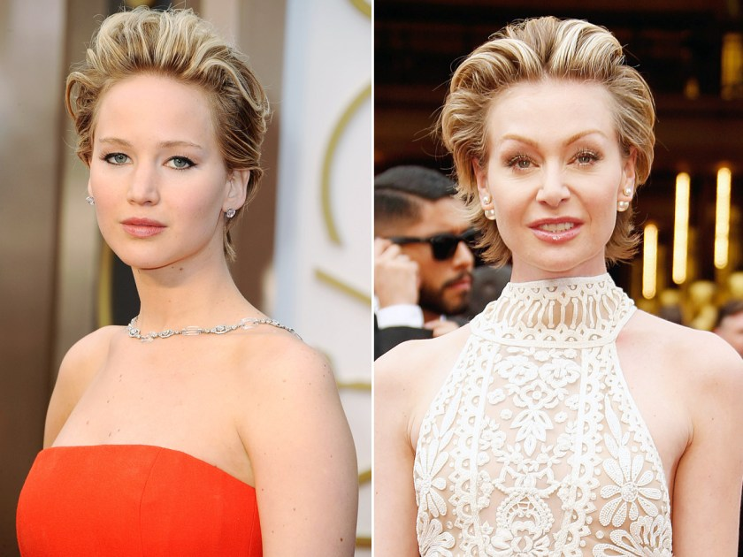 Jennifer Lawrence And Portia De Rossi Wear Same Short Hair