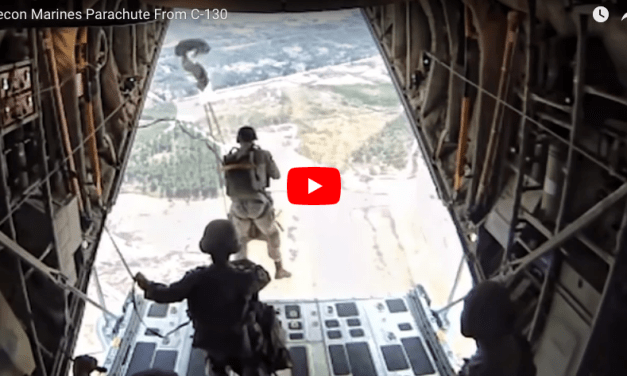 Recon Marines Parachute From C-130