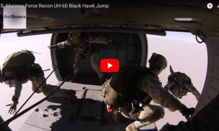 U.S. Marines Force Recon UH-60 Black Hawk Jump