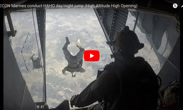 RECON Marines conduct HAHO day/night jump