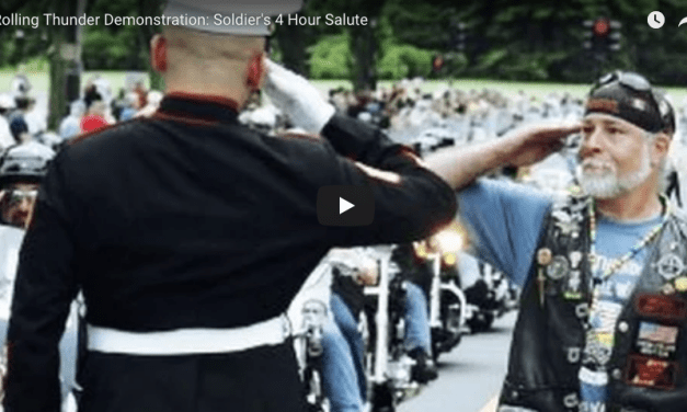 Recently Married Marine's 4 Hour Salute at Memorial day DC