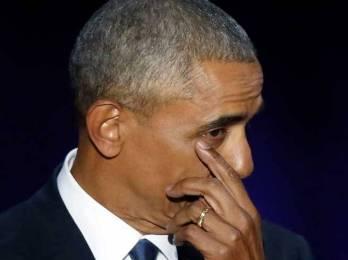 विदाई भाषणमा आँशु थाम्न सकेनन् बाराक ओबामाले।
