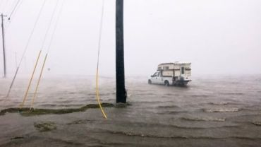 Hurricane Harvey's high winds make landfall in Texas