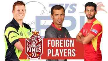 इपिएल क्रिकेटमा १७ विदेशी खेलाडी सहभागी