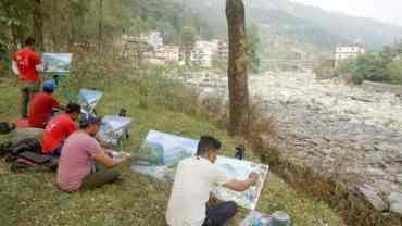 क्यान्भासमा उत्तरगयाः मनमोहक फलाखु र त्रिशूली नदी