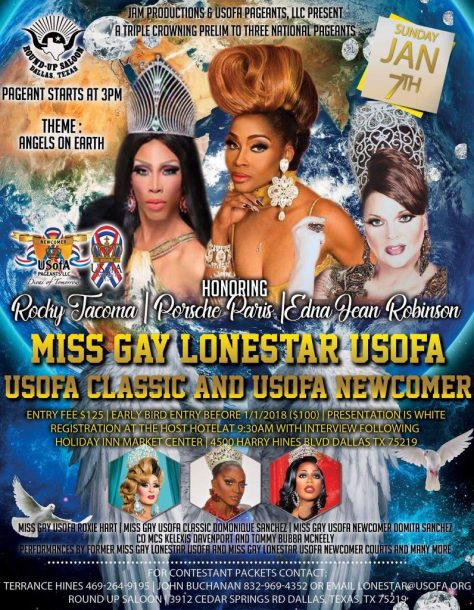 Good Luck To All The Contestants At Miss Gay Lonestar USofA Newcomer 2018!