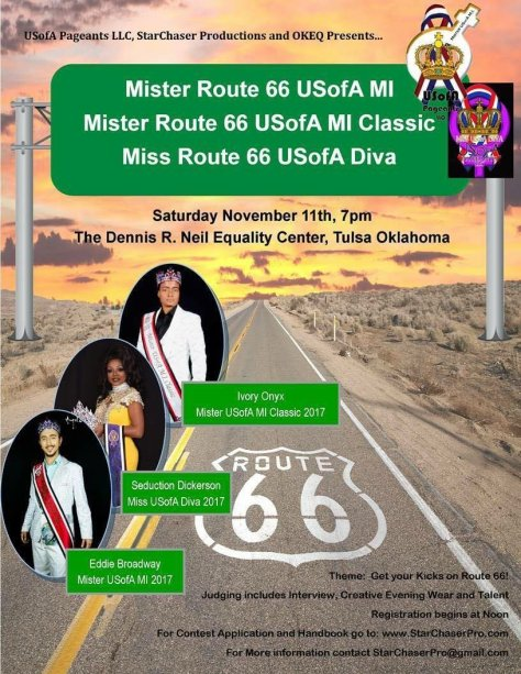 Good Luck To All The Contestants At Mister Route 66 USofA MI 2018 !!