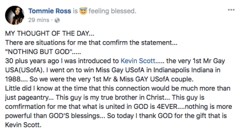 Tommie Ross about Kevin Scott