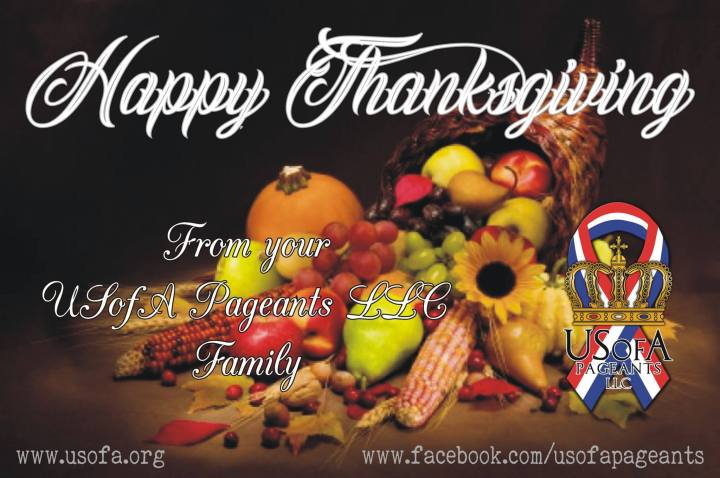 USofA Pageants Happy Thanksgiving
