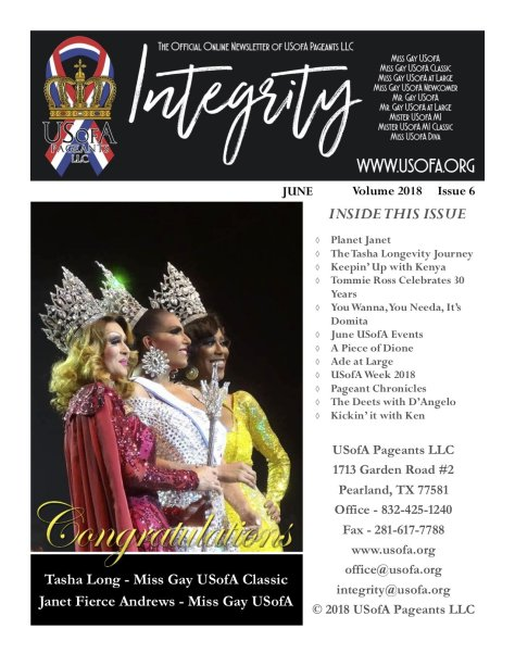USofA Pageants Integrity Newsletter June 2018