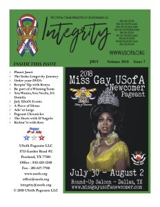 USofA Pageants Integrity Newsletter July 2018