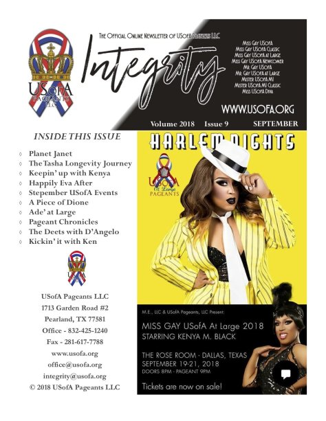USofA Pageants Integrity Newsletter September 2018