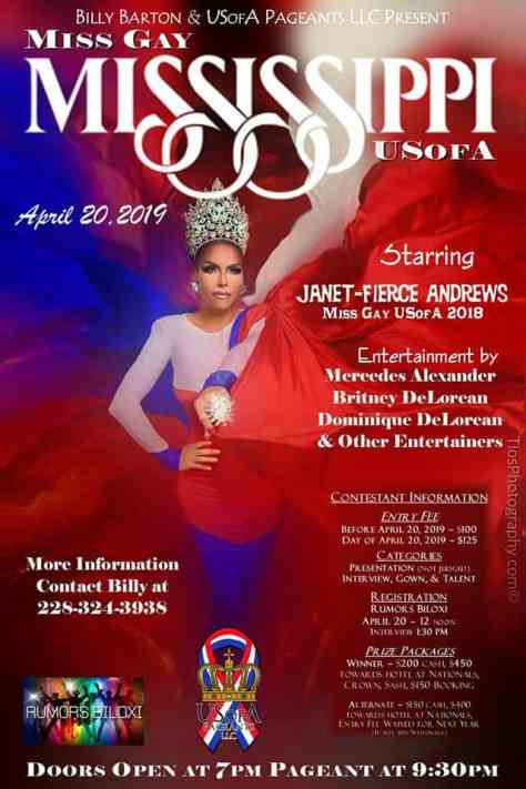 Miss Gay Mississippi USofA 2019