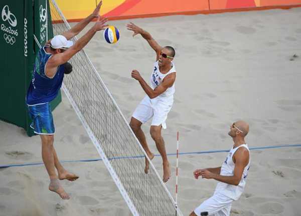 Team USA Men's Beach Volleyball Eliminated By Brazil ...