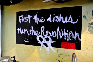 First the dishes then the revolution