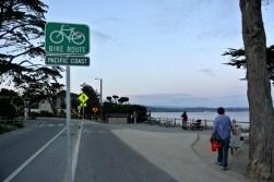 Pacific coast bike route