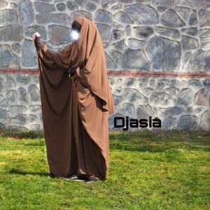 Abaya Farasha mit Khimar Kupfer