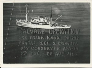 USS Conserver on USS Frank Knox salvage operation 1965 image