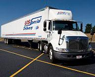 Image of truck from freight solutions company US Special Delivery