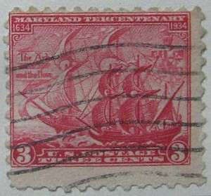 1934 Maryland Tercentenary 3c