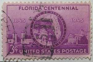 1945 Florida Statehood 3c