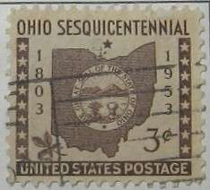 1953 Ohio Statehood 3c