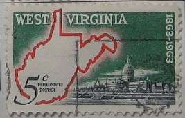 1963 West Virginia Statehood 5c