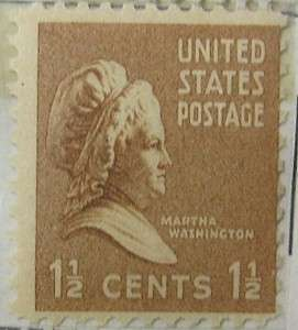 1938 Martha Washington 1 1/2c
