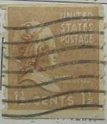 1939 Martha Washington 1 1/2c Vertical Coil