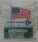 1969 Flag and White House 6c Vertical Coil