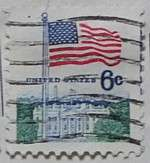 1970 Flag and White House 6c Small