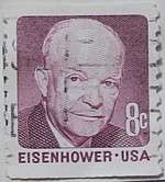 1971 Eisenhower 8c Vertical Coil